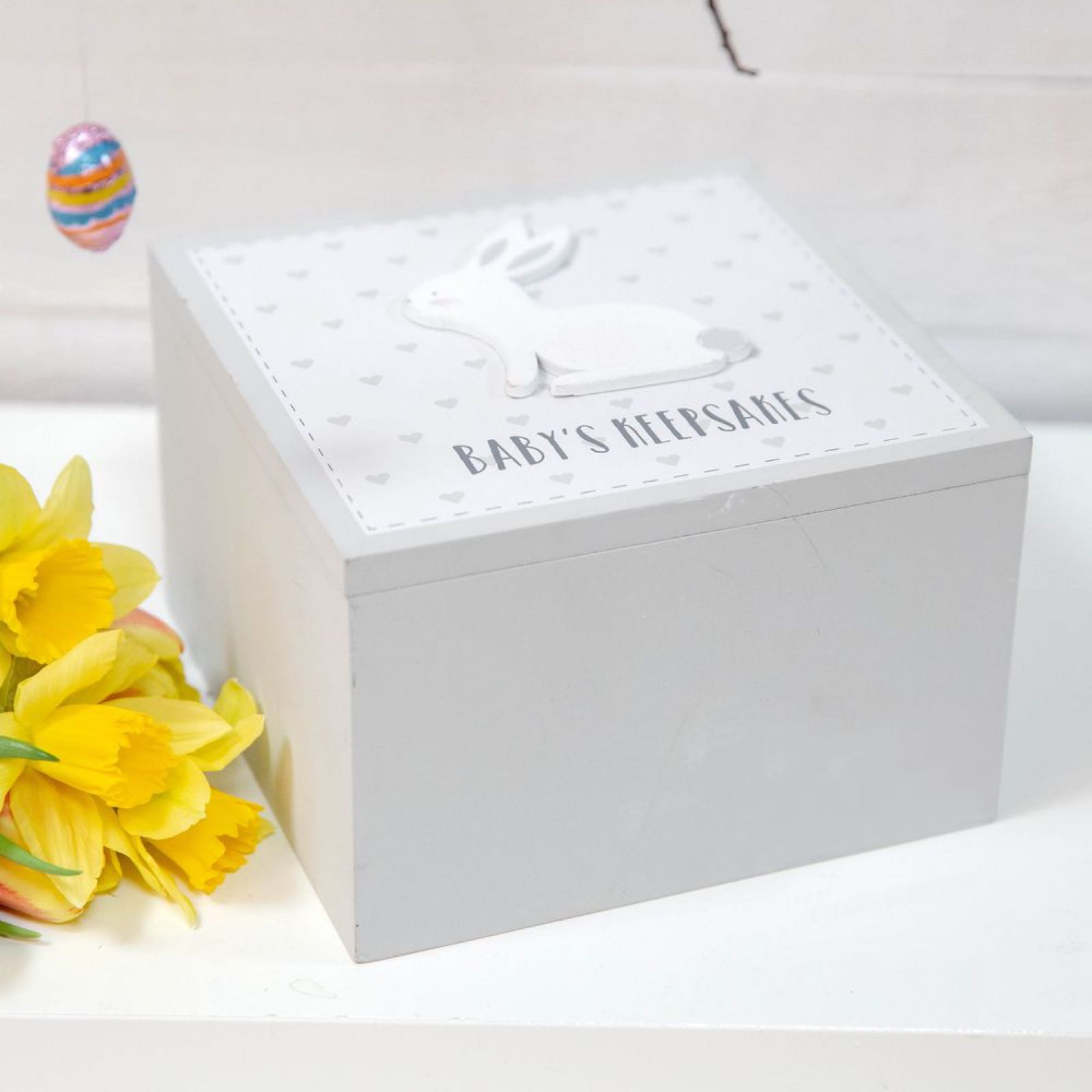 Grey Rabbit Keepsake Box (can be engraved)