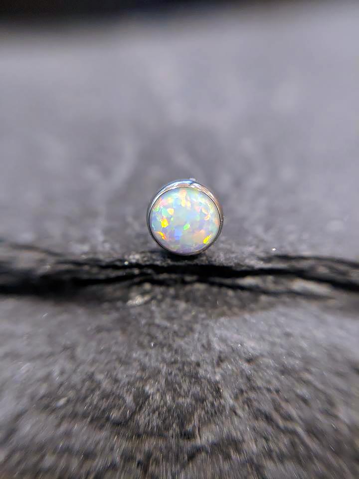 NeoMetal Cabochon white opal