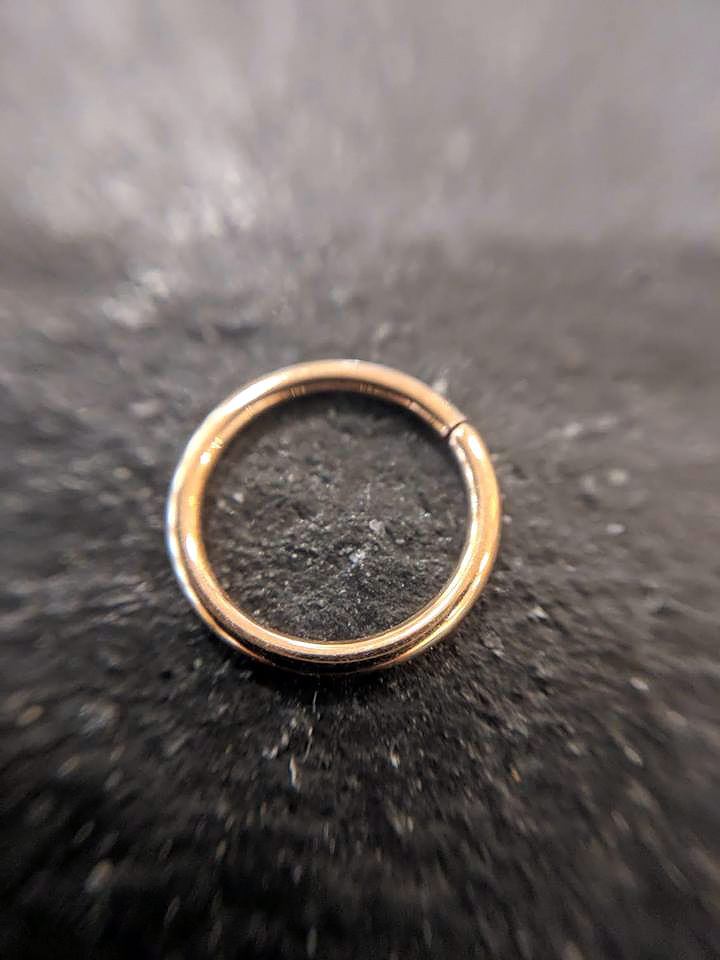 BVLA Seam Ring 14k. Rose-Echtgold 1,0mm