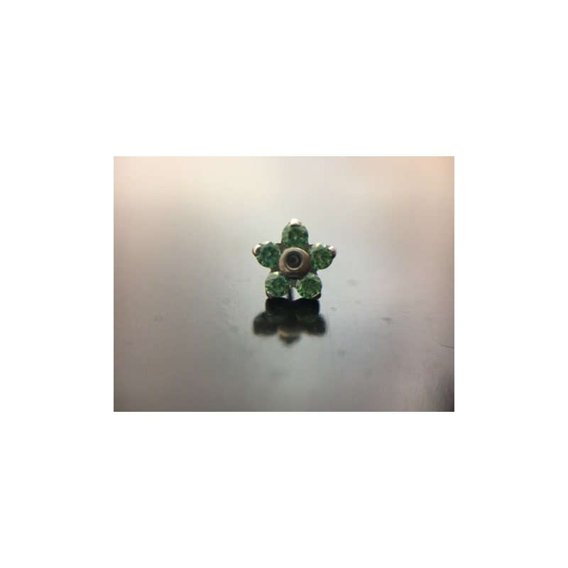 NeoMetal Titan Blume Emerald CZ