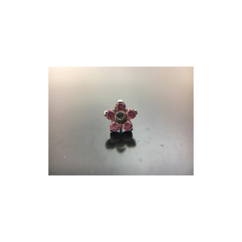 NeoMetal Titan Blume Pink CZ
