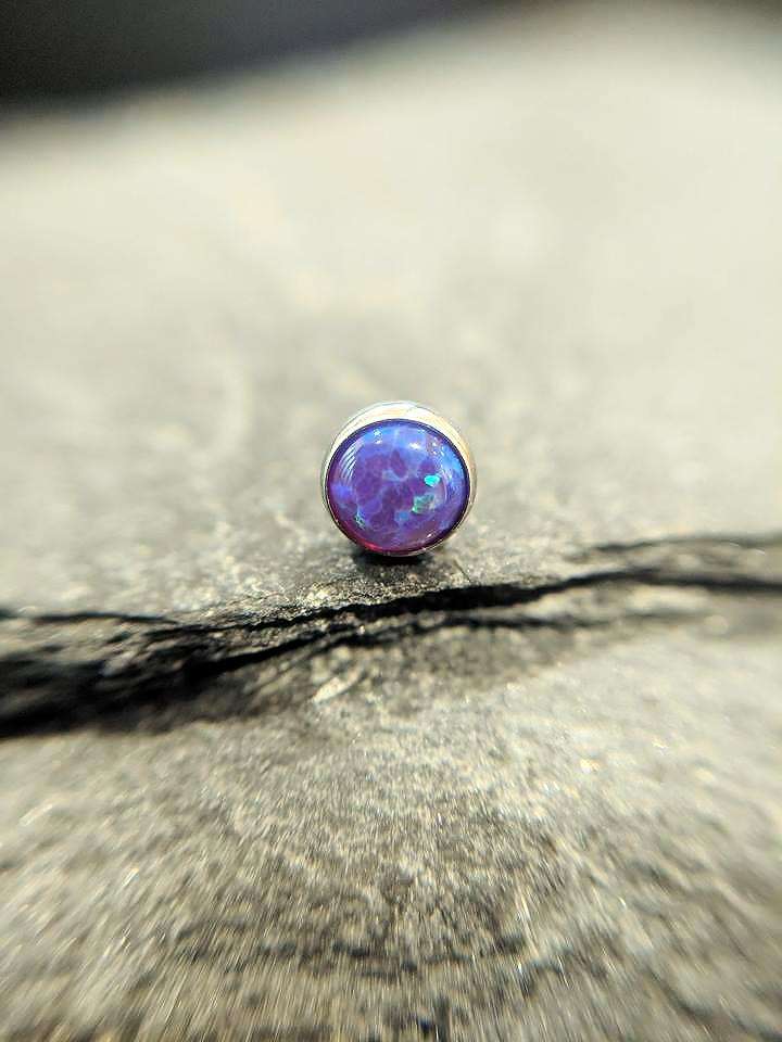 NeoMetal Cabochon purple opal
