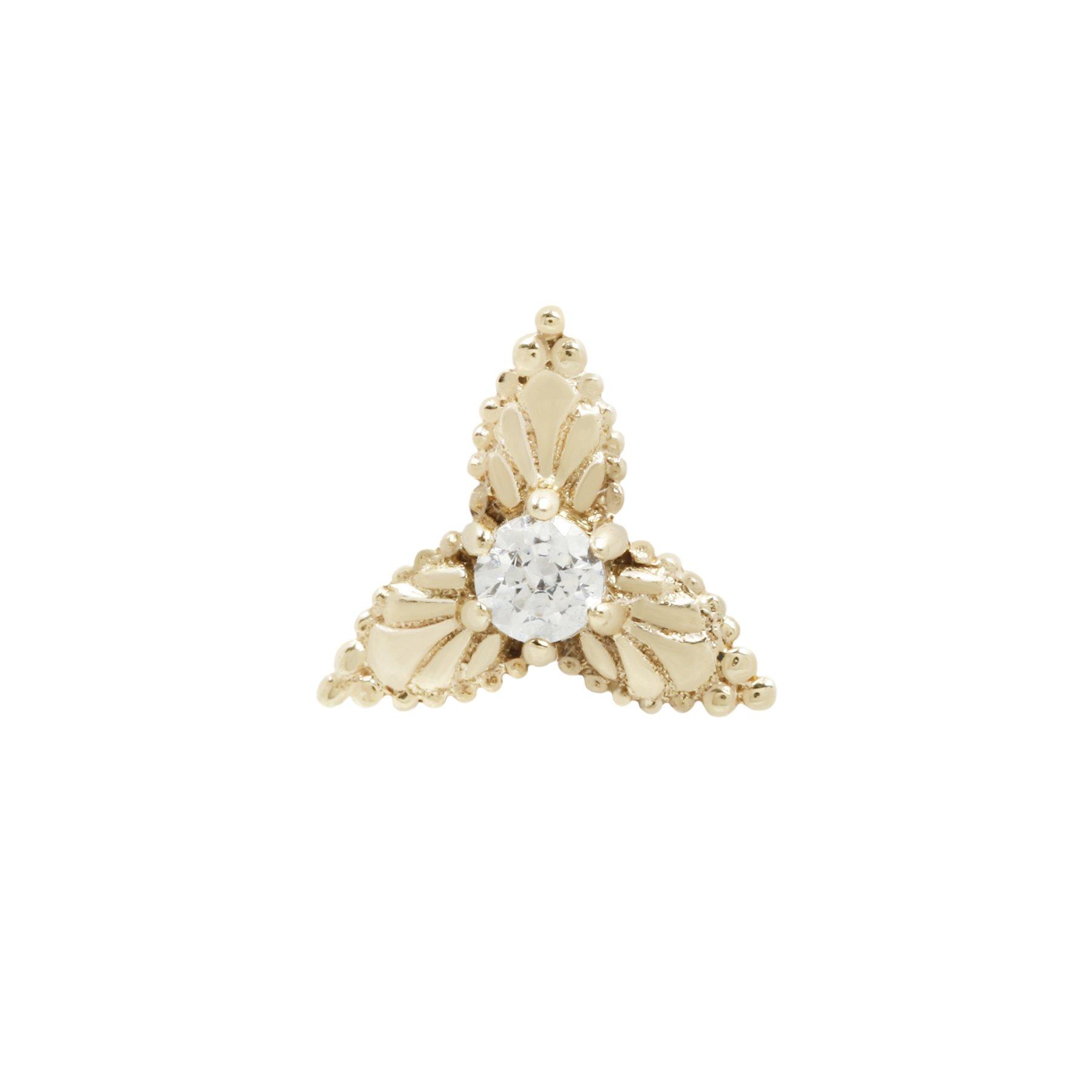 Buddha Jewelry 14k Amelie threadless end gelbgold cz