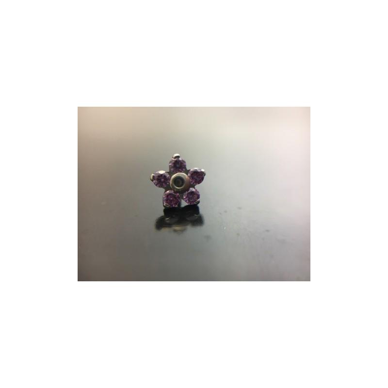 NeoMetal Titan Blume Fancy Purple CZ