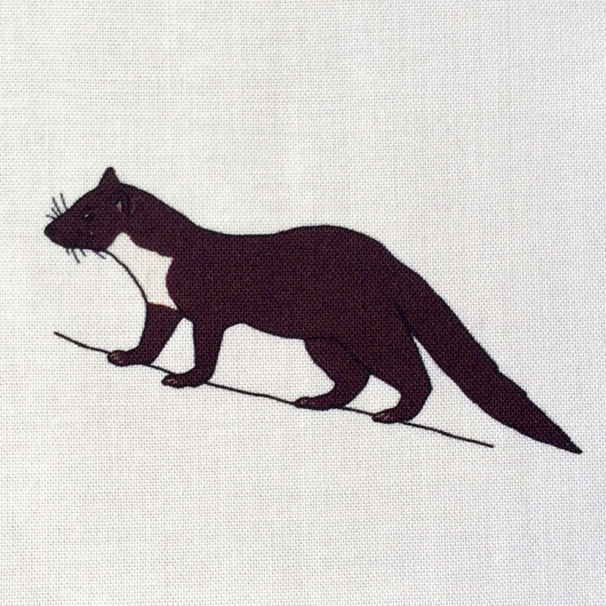 Woodland mammals fabric strip