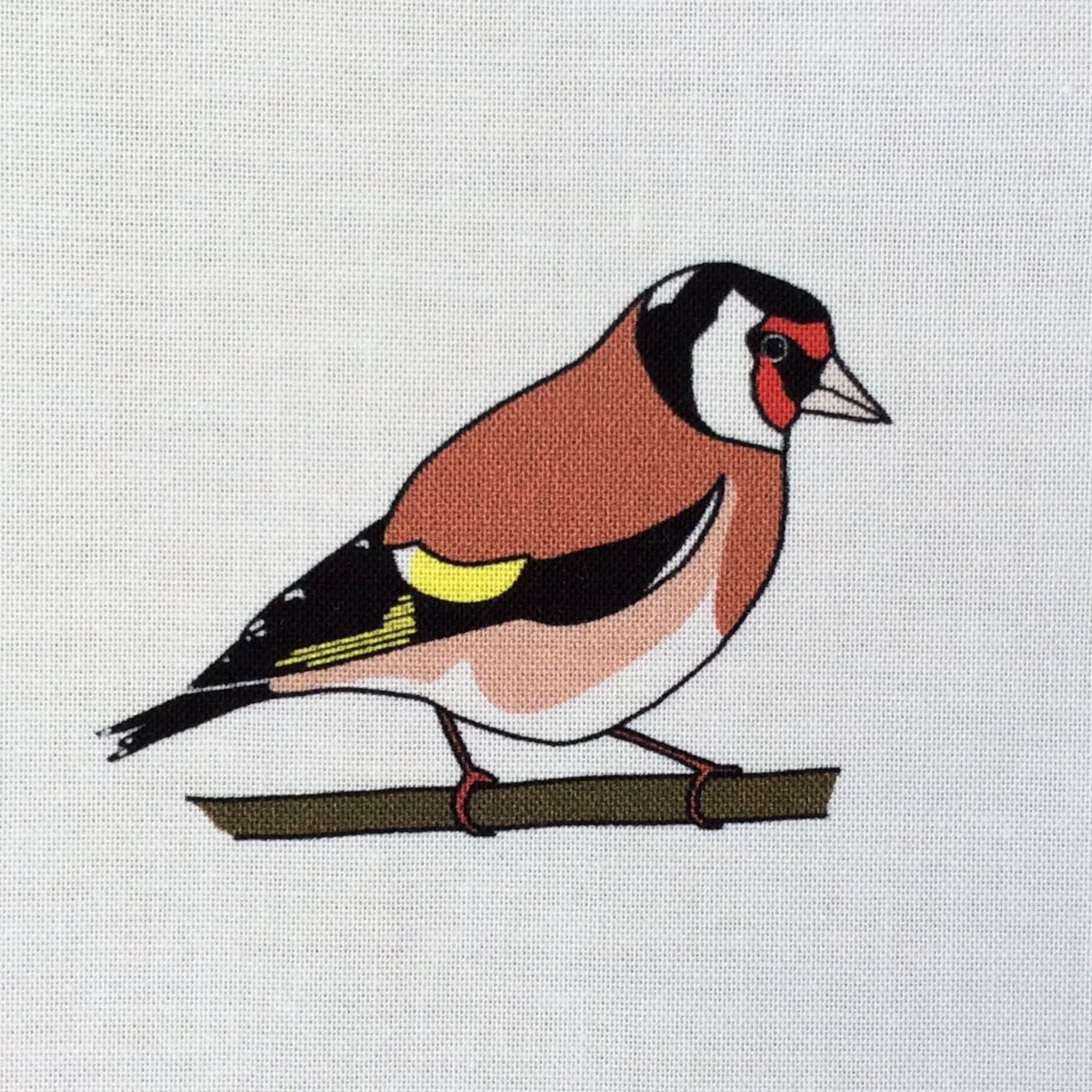 Goldfinch fabric strip