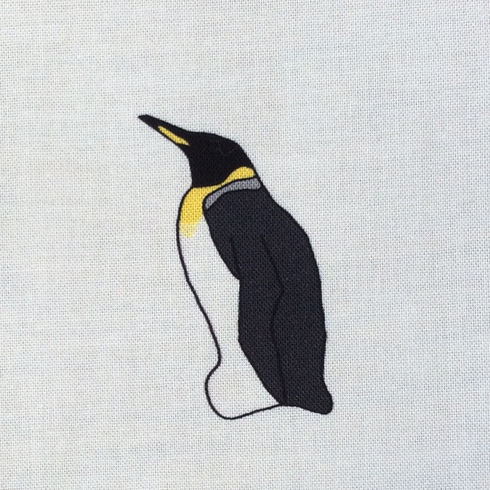 6 penguins fabric strip