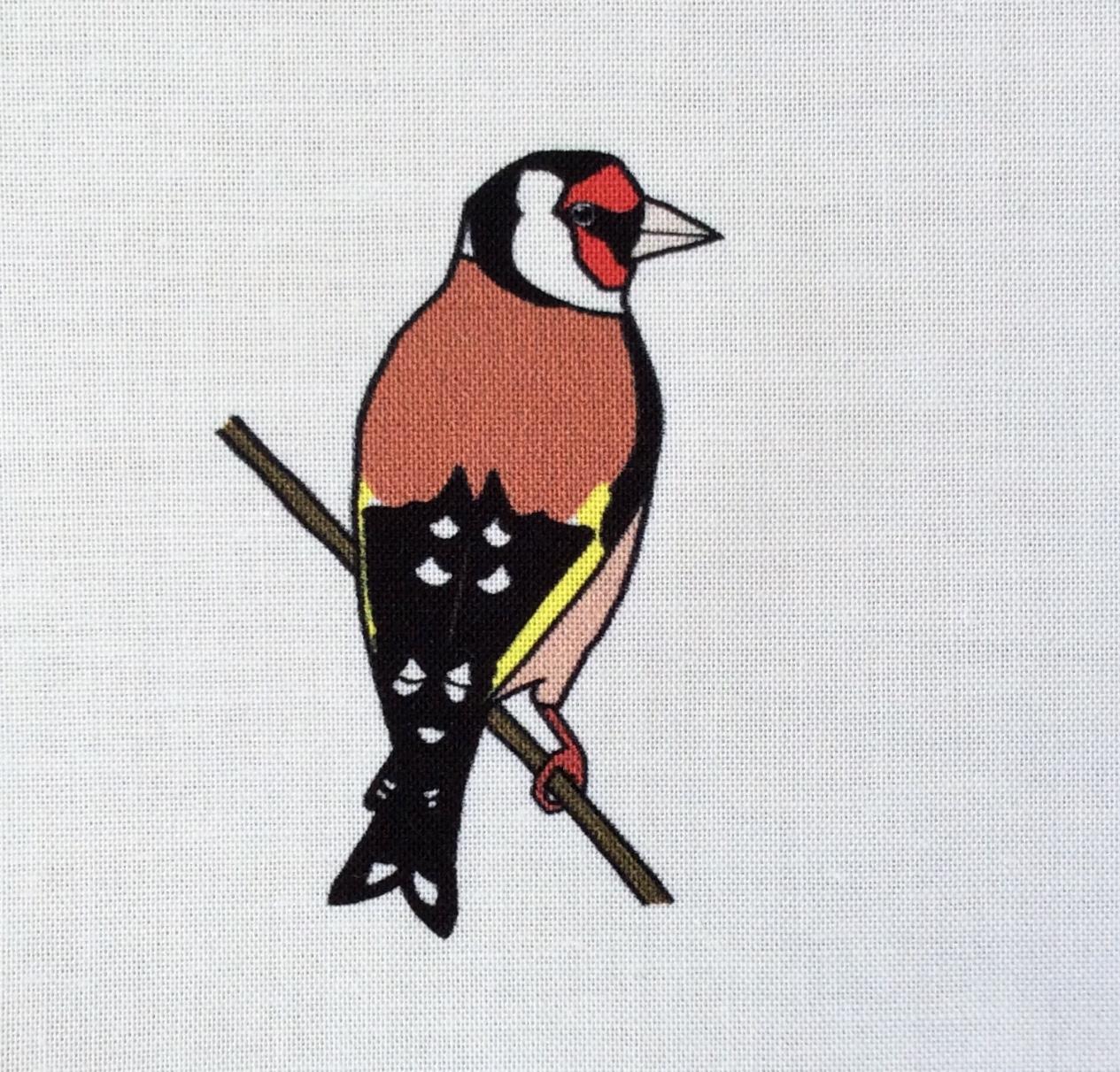 Goldfinch fabric strip