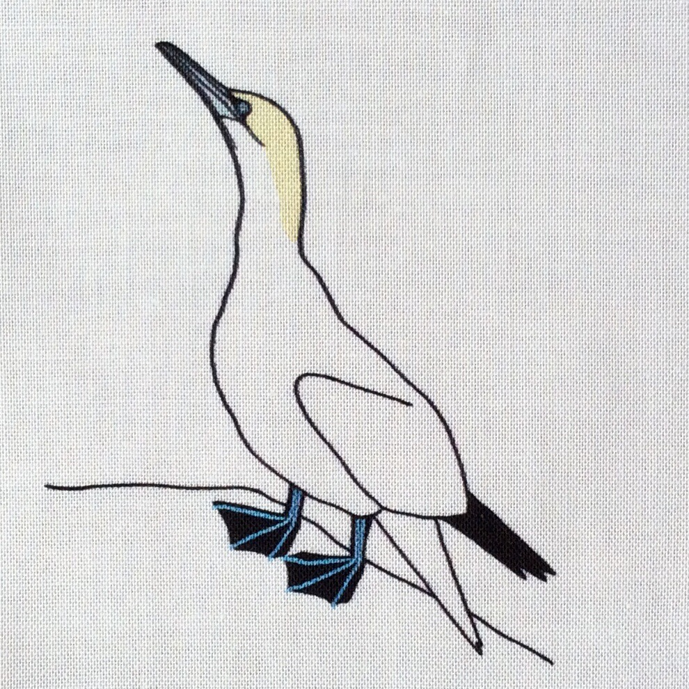 Seabird fabric strip