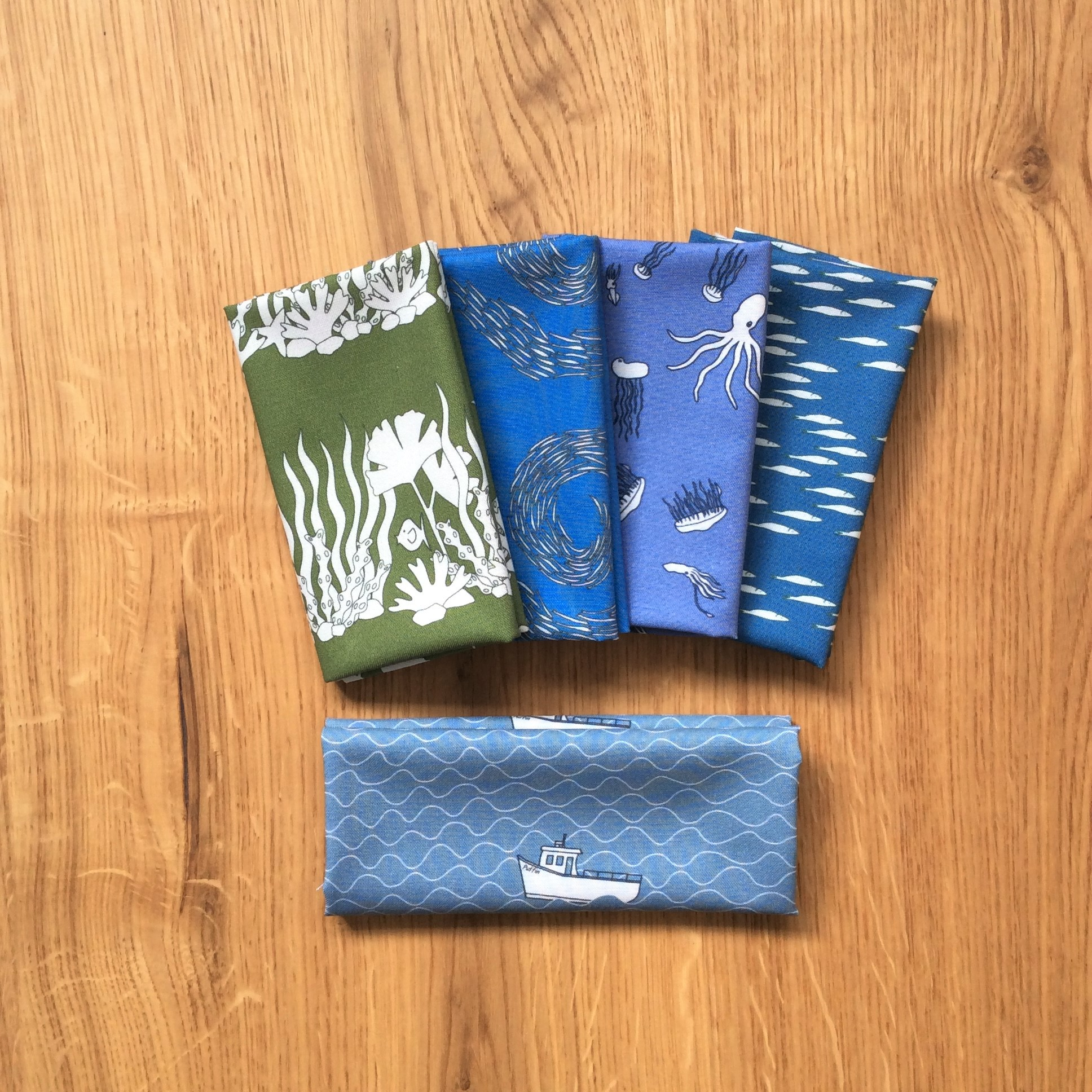 At Sea fabric fat eighth bundle