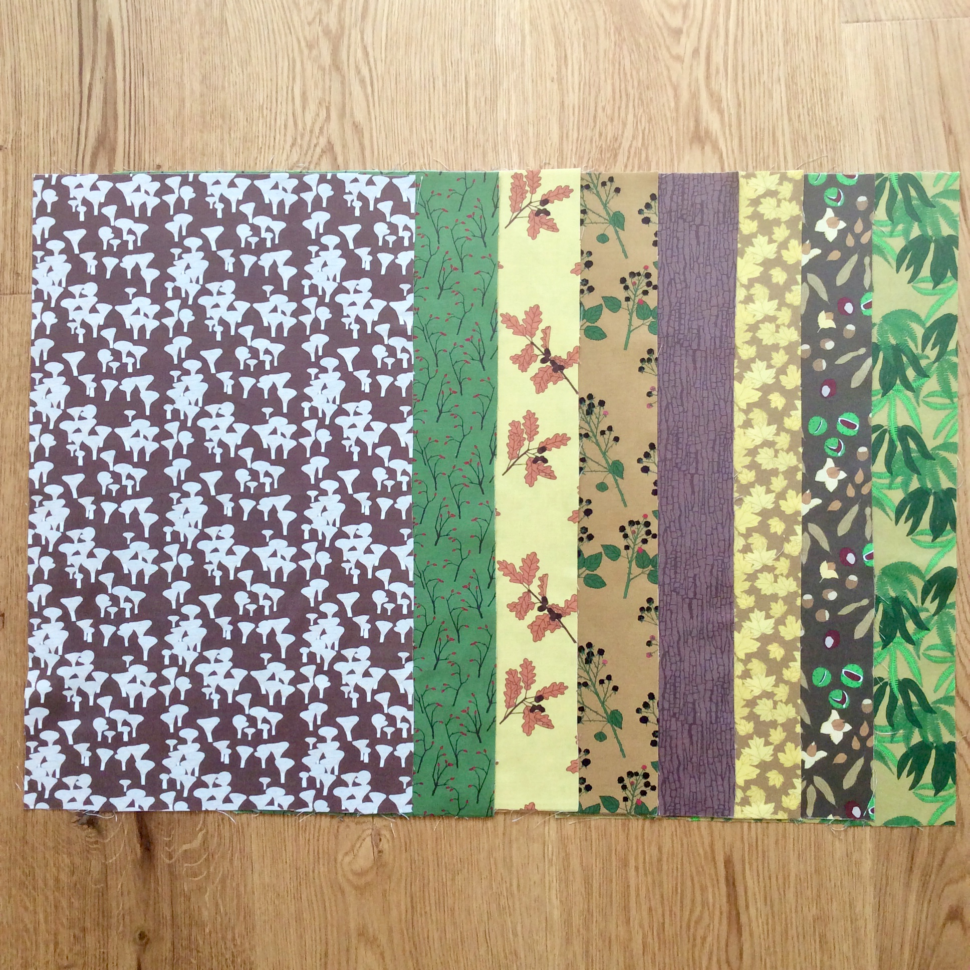Autumn woodland fabric fat eighth bundle