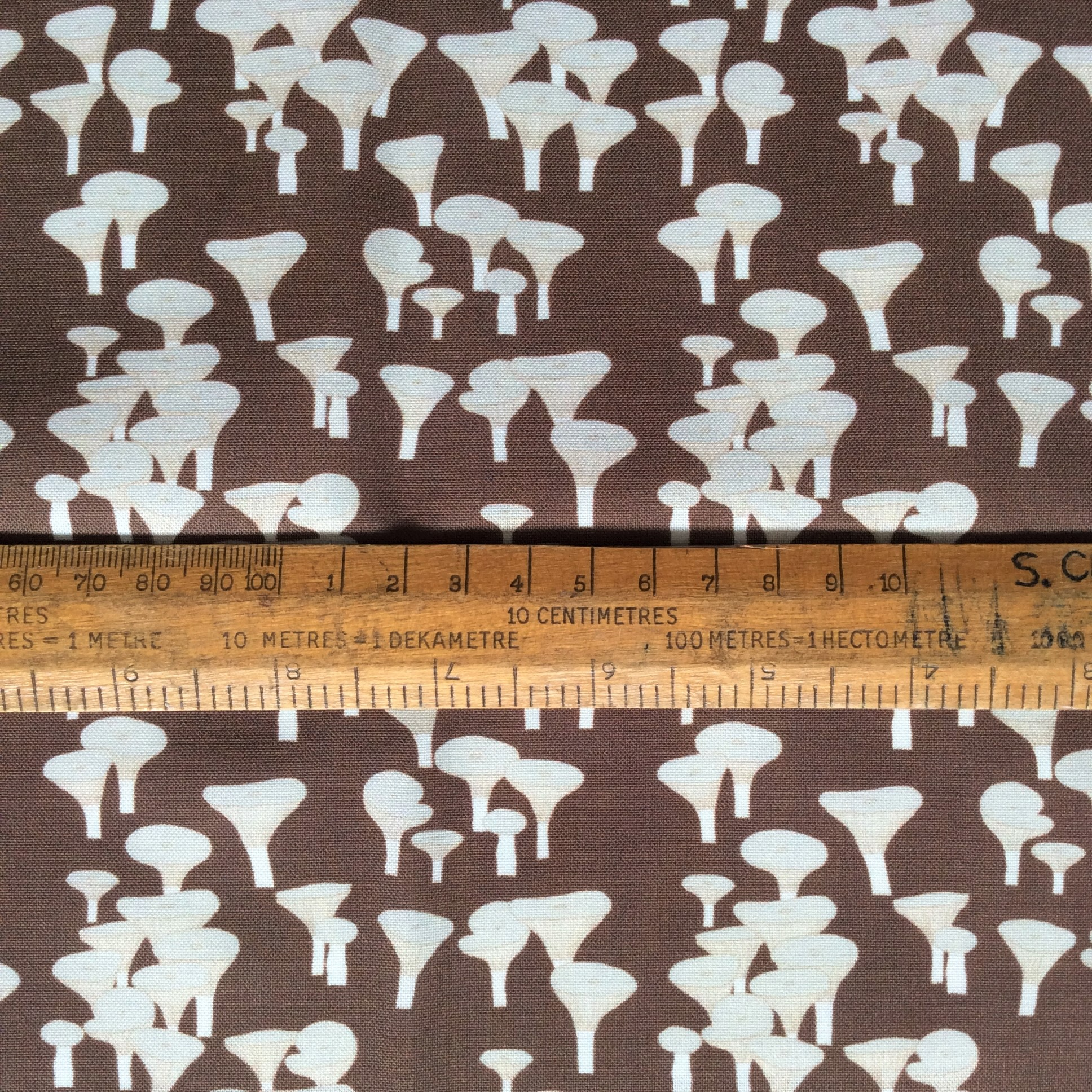 Trooping funnel fungi fabric fat quarter