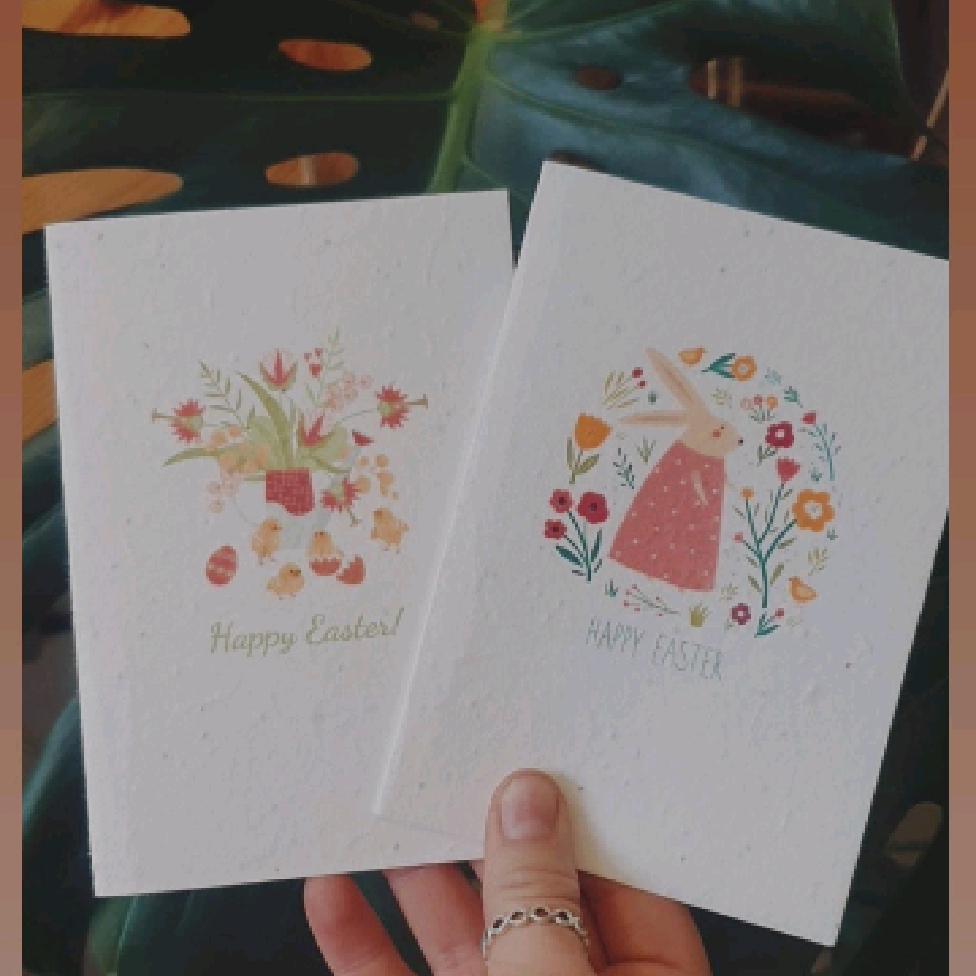 Happy Easter | Plantable Seed Paper Cards