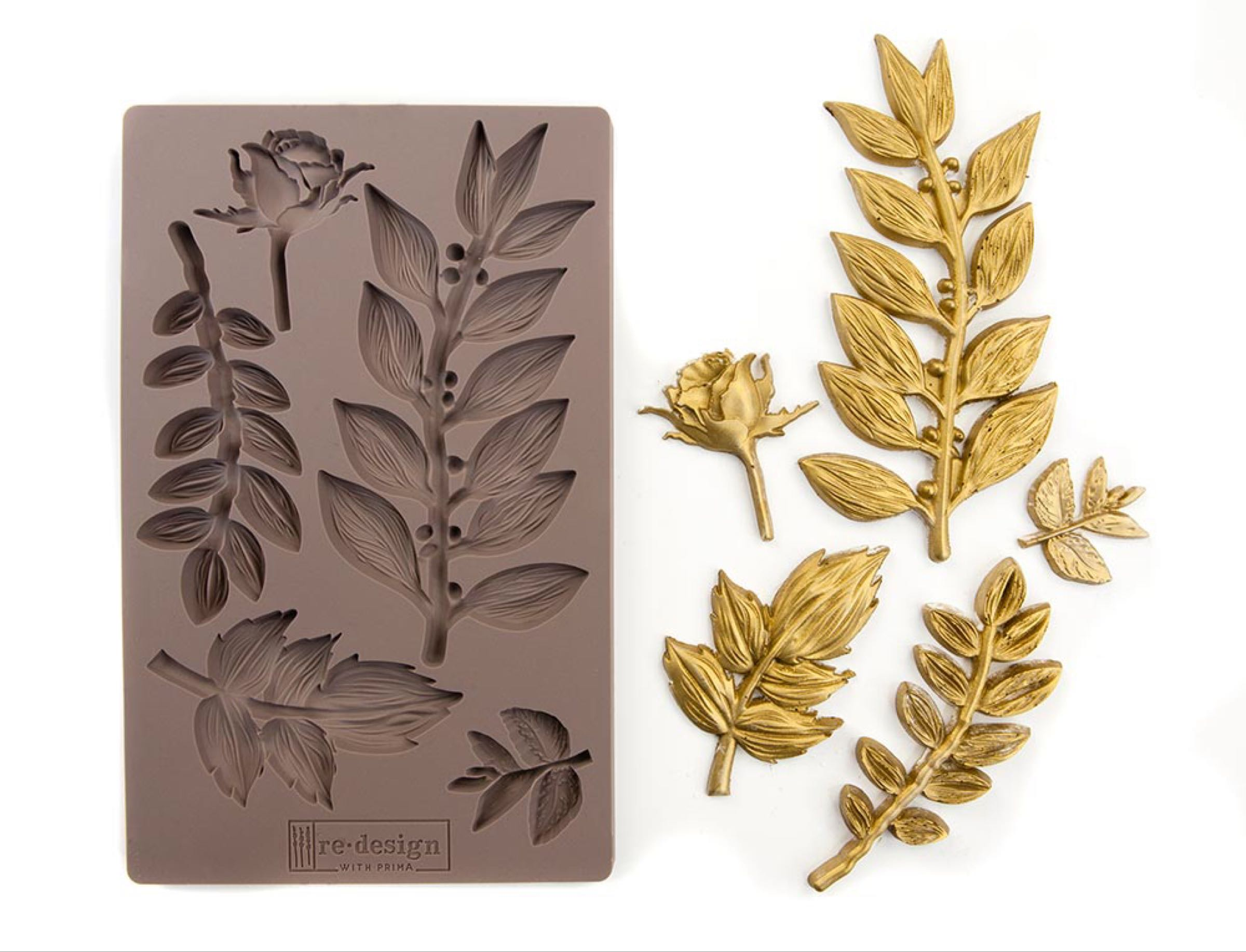Re-Design with Prima Mould- Leafy Blossom
