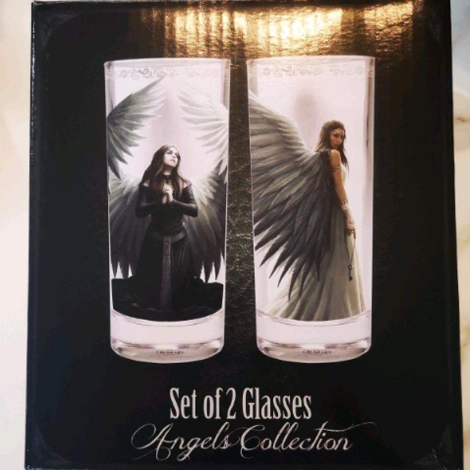 Anne Stokes Angel Wings Glasses