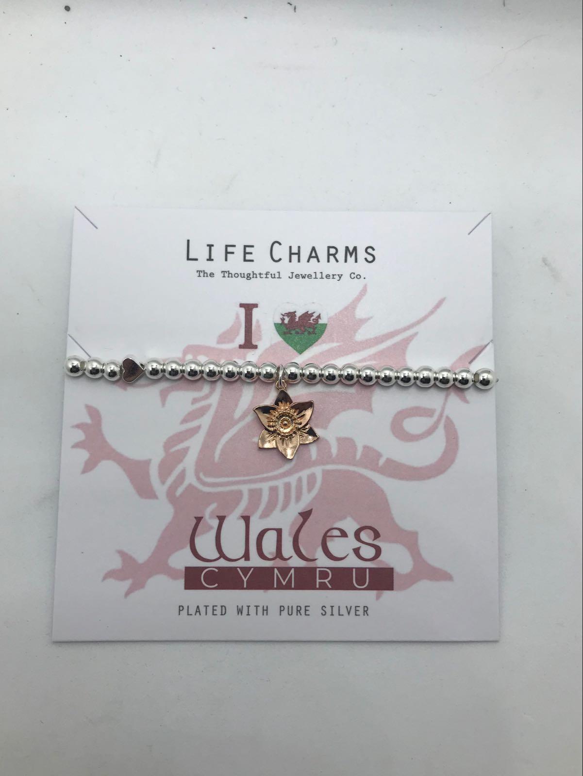 Life Charms I love Wales-daffodil