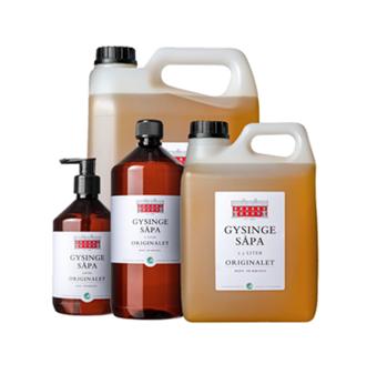 Linoljesåpa Gysingesåpa 0,5 2,5 & 5 liter (5 liter endast i butik)