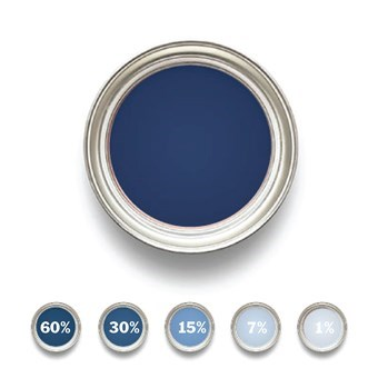 Linoljefärg Ultramarinblå