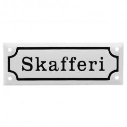 """Emaljskylt """"Skafferi"""""""