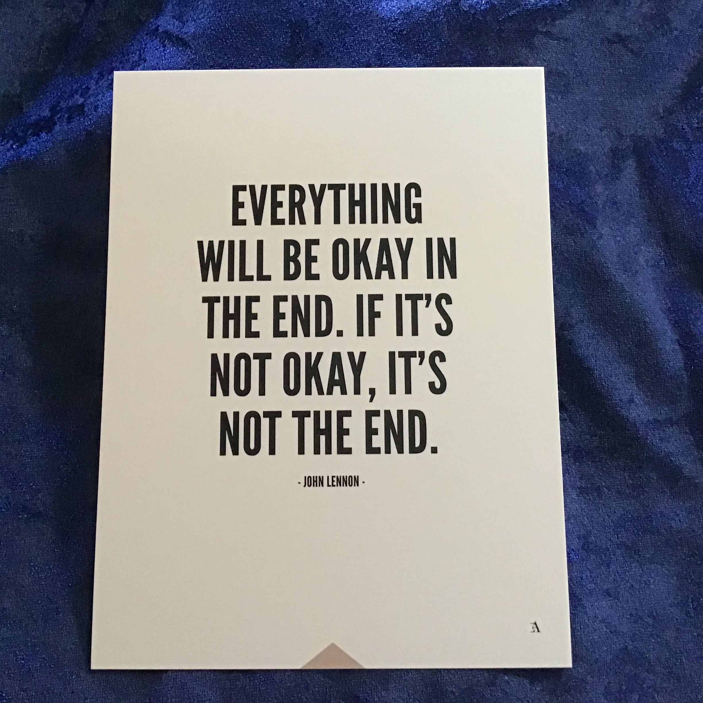 Everything will be okay... 15x20 cm - Art print