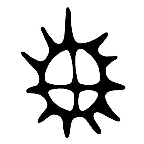 Grytunderlägg i silikon, solhjul