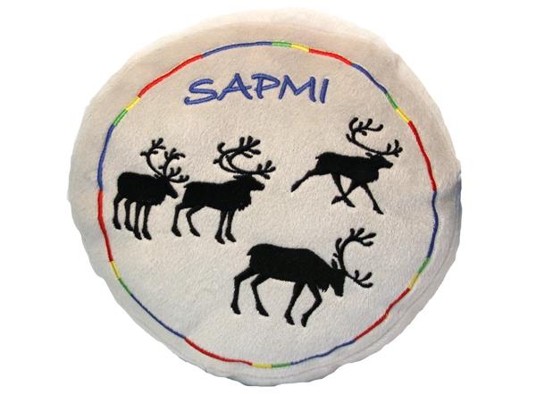 Kudde Sapmi med renar - 25 cm