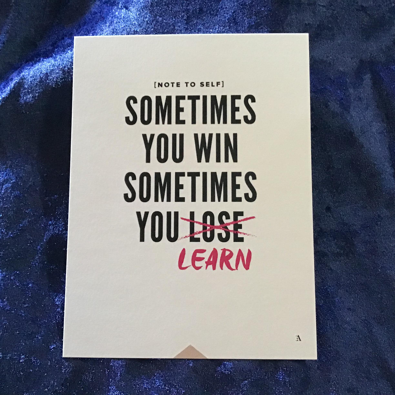Sometimes you win... - Art print
