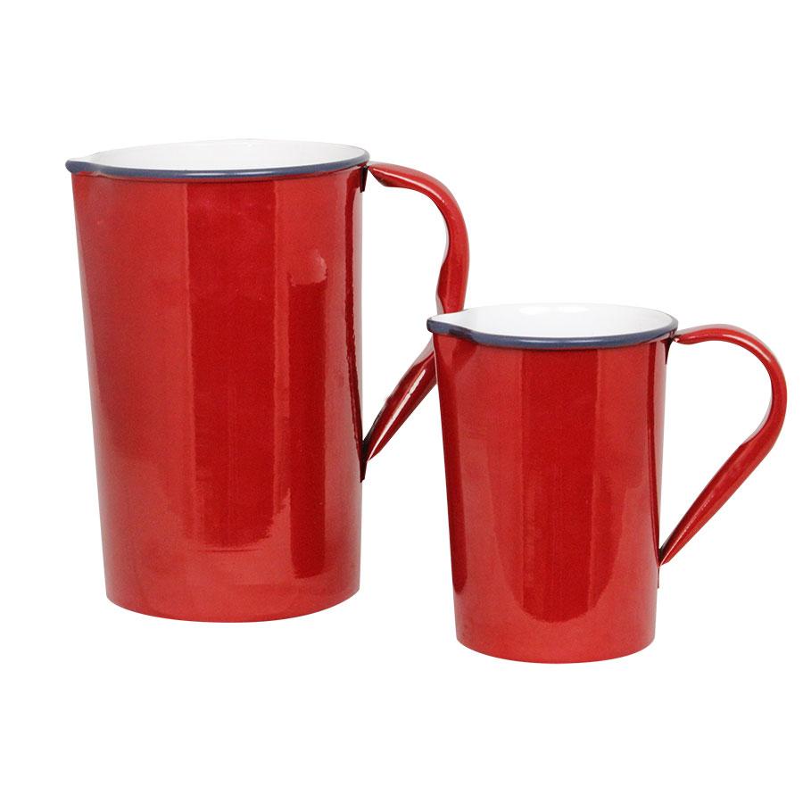Plåtkanna Olle. röd - 2 storlekar
