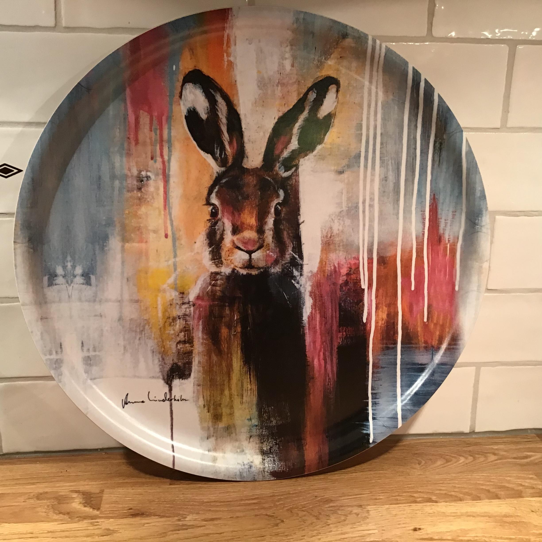 Haren - rund bricka - 35 cm