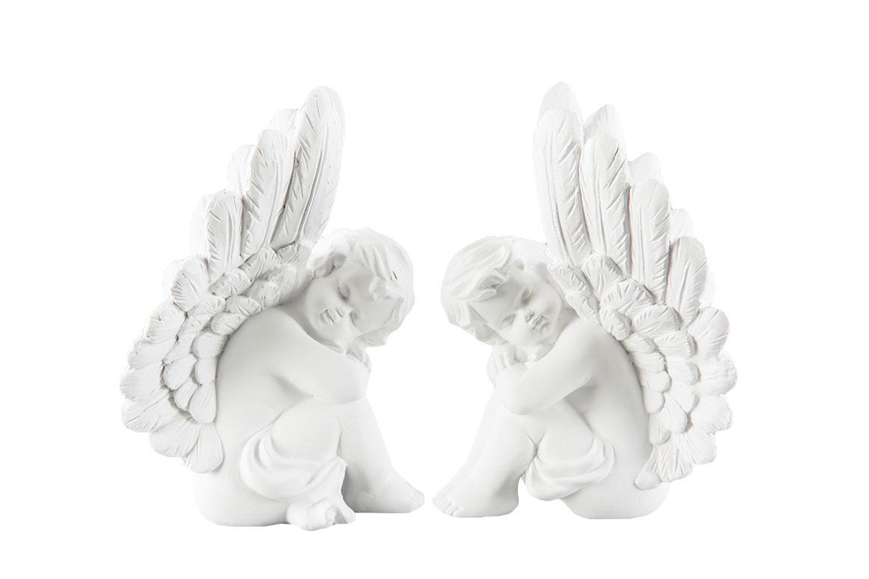 Sittande ängel, 16 cm