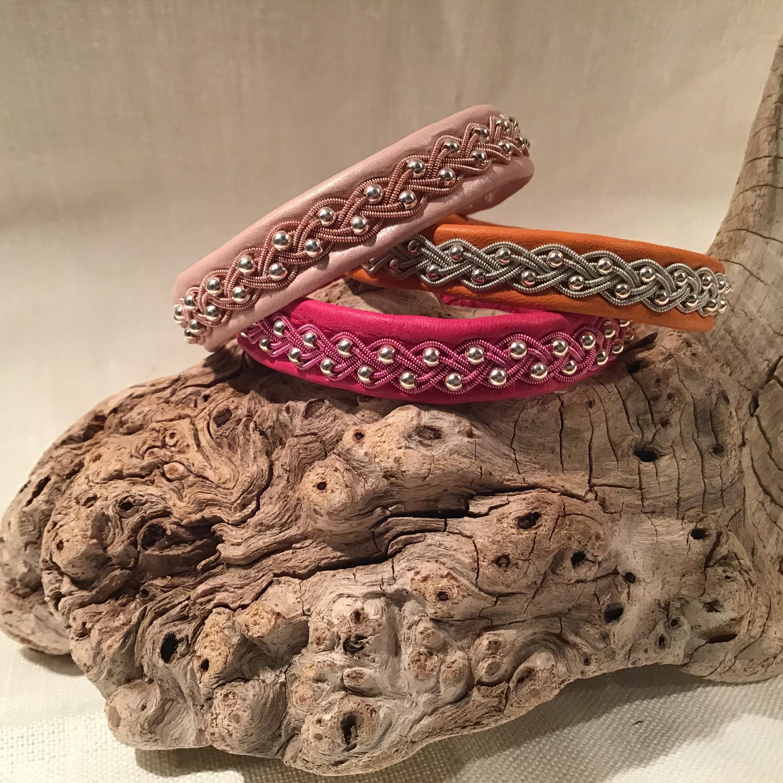 Armband med inflätade silverpärlor