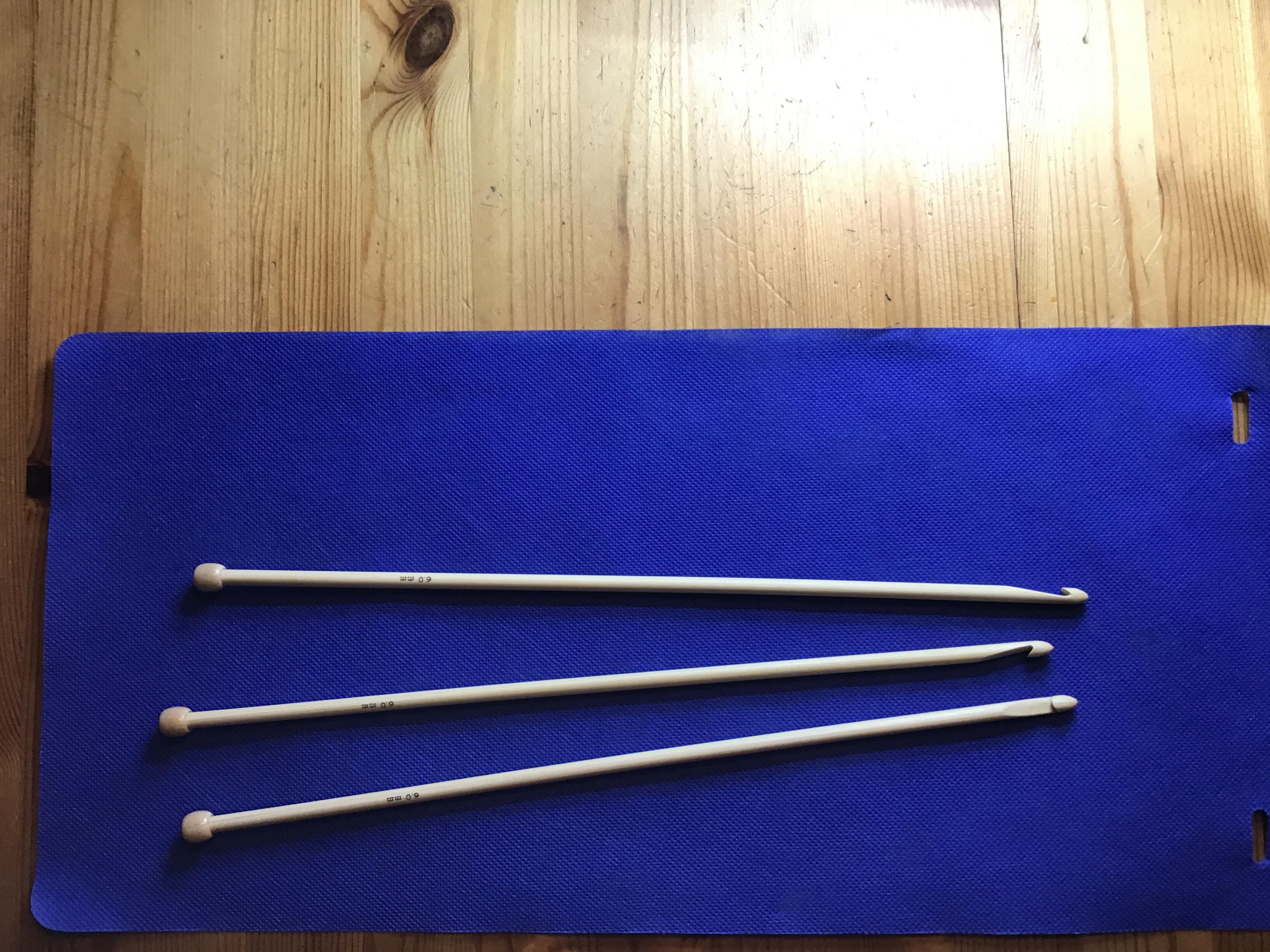 Kroknål, enkel, 32 cm, 6 mm