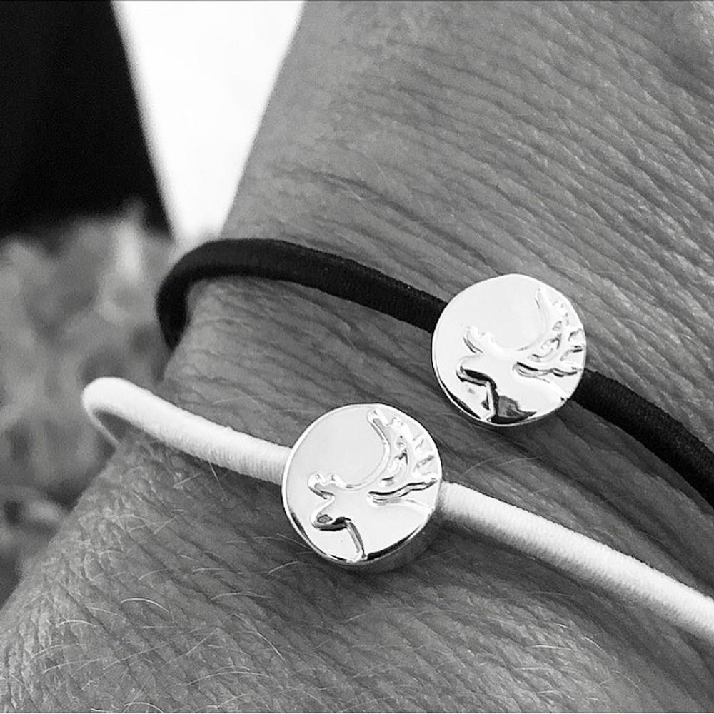Hårsnodd / armband m ren - Anna Viktoria