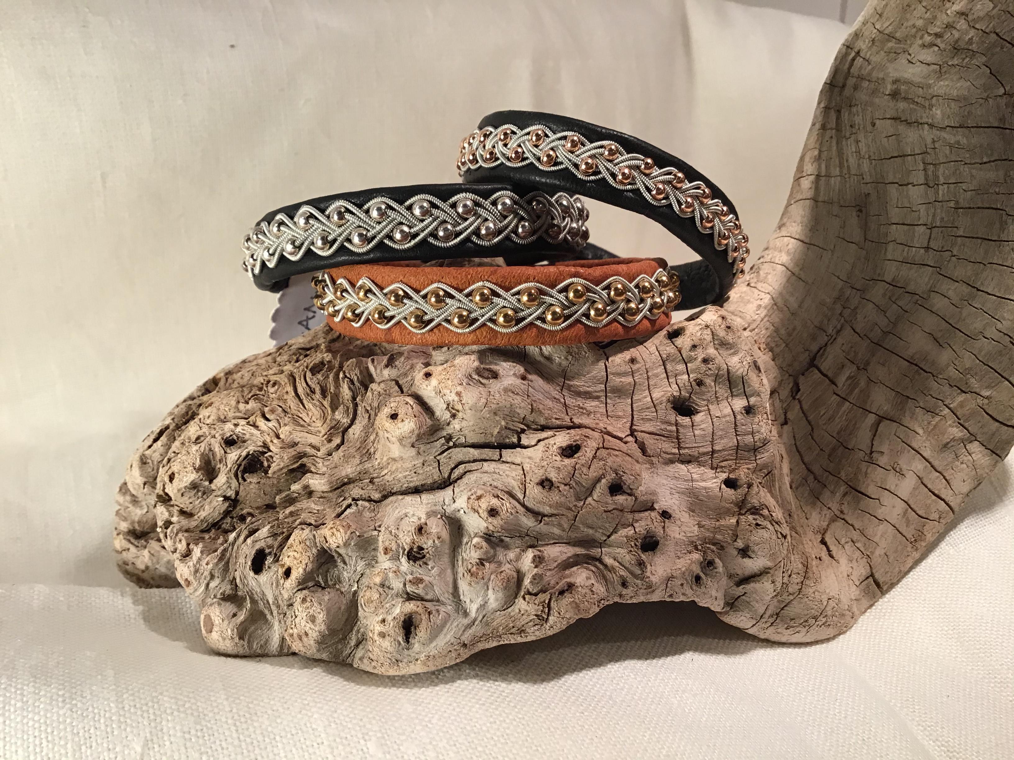Armband med inflätade pärlor