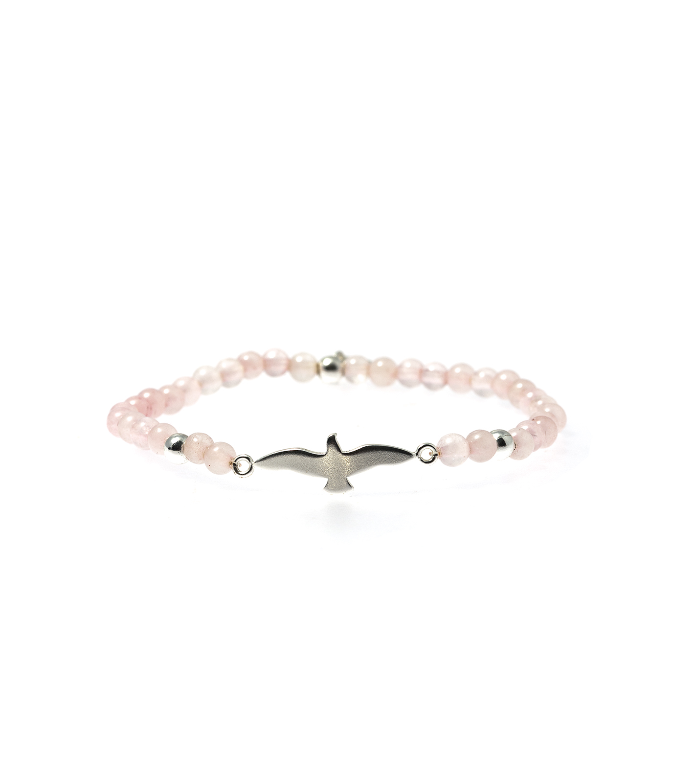 Bud to rose Armband Dove Rosa/silver