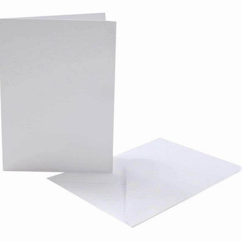 C5 Blank Card and Envelope - x6