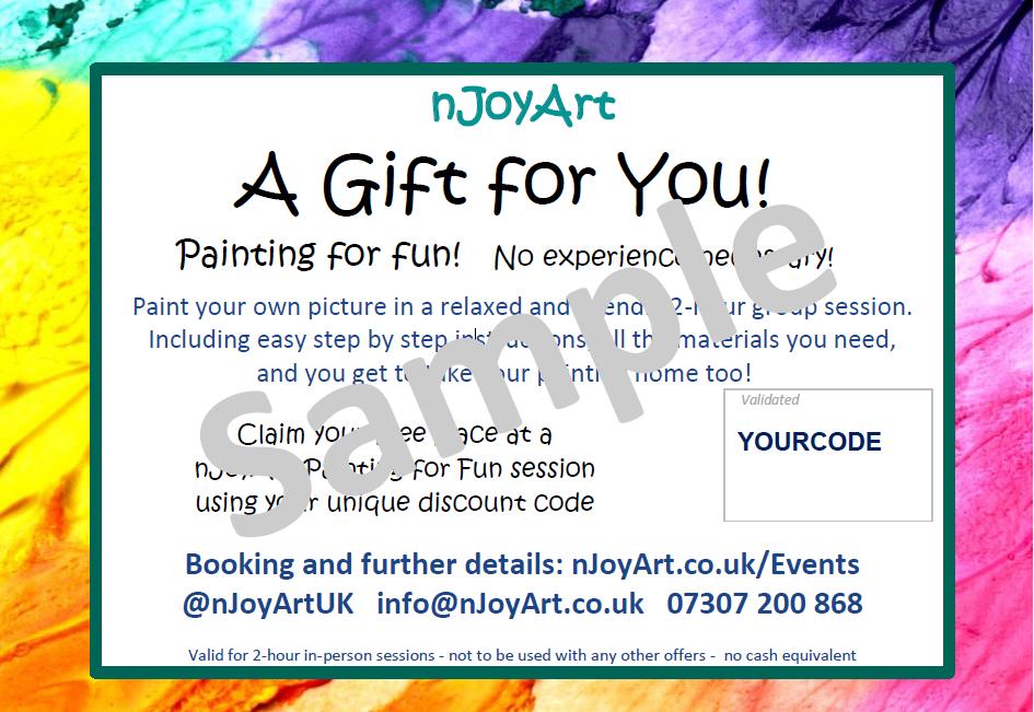 nJoyArt Gift Voucher - ONLINE Sessions