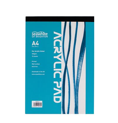 Seawhite A4 360gsm Acrylic Painting Pad 15 Sheets