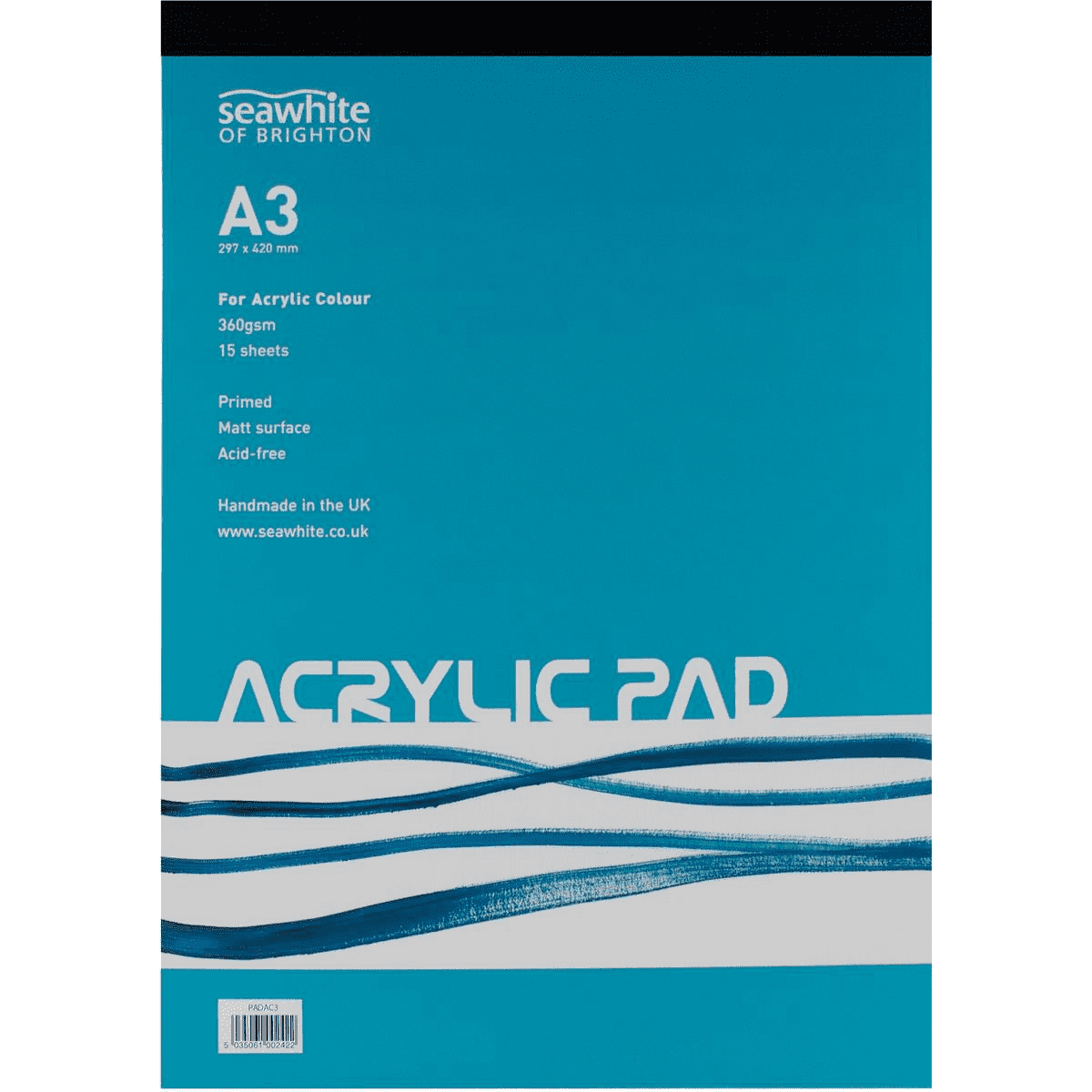 Seawhite A3 360gsm Acrylic Painting Pad 15 Sheets