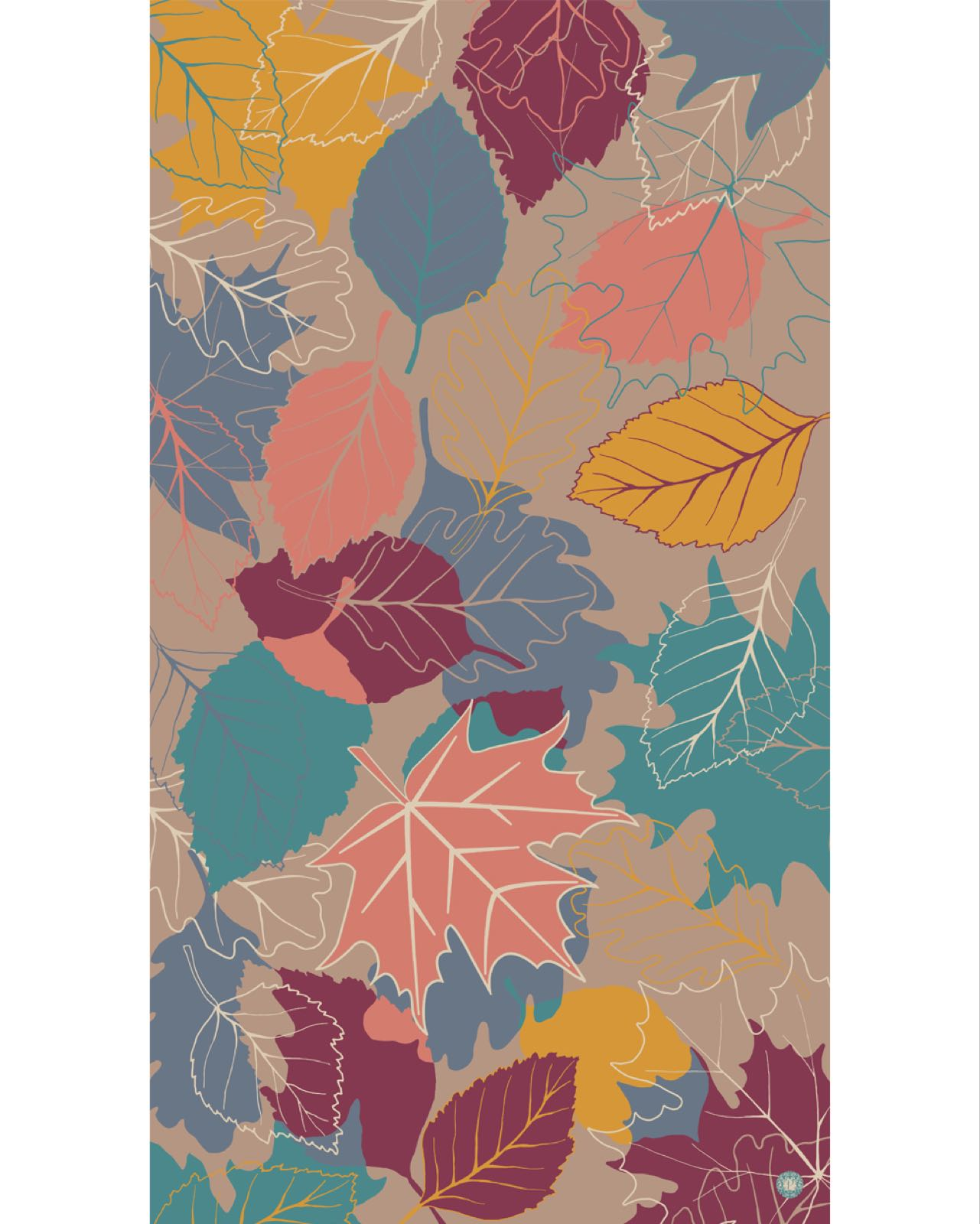 Powder  Autumn leaves scarf