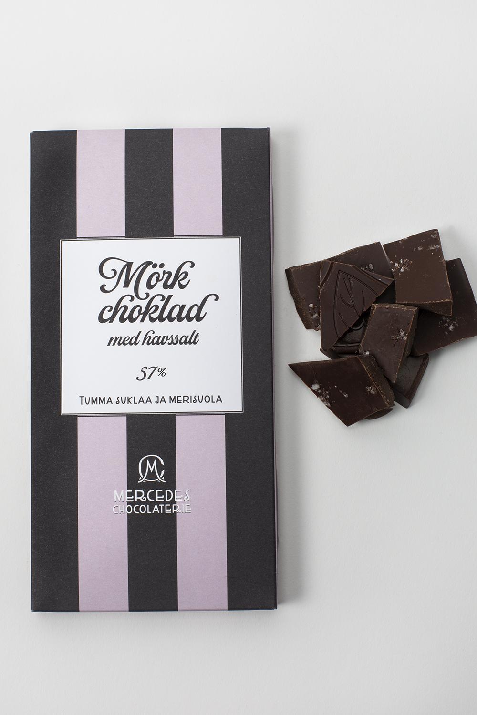 Mercedes chokladplatta - mörk choklad 57 % med havssalt
