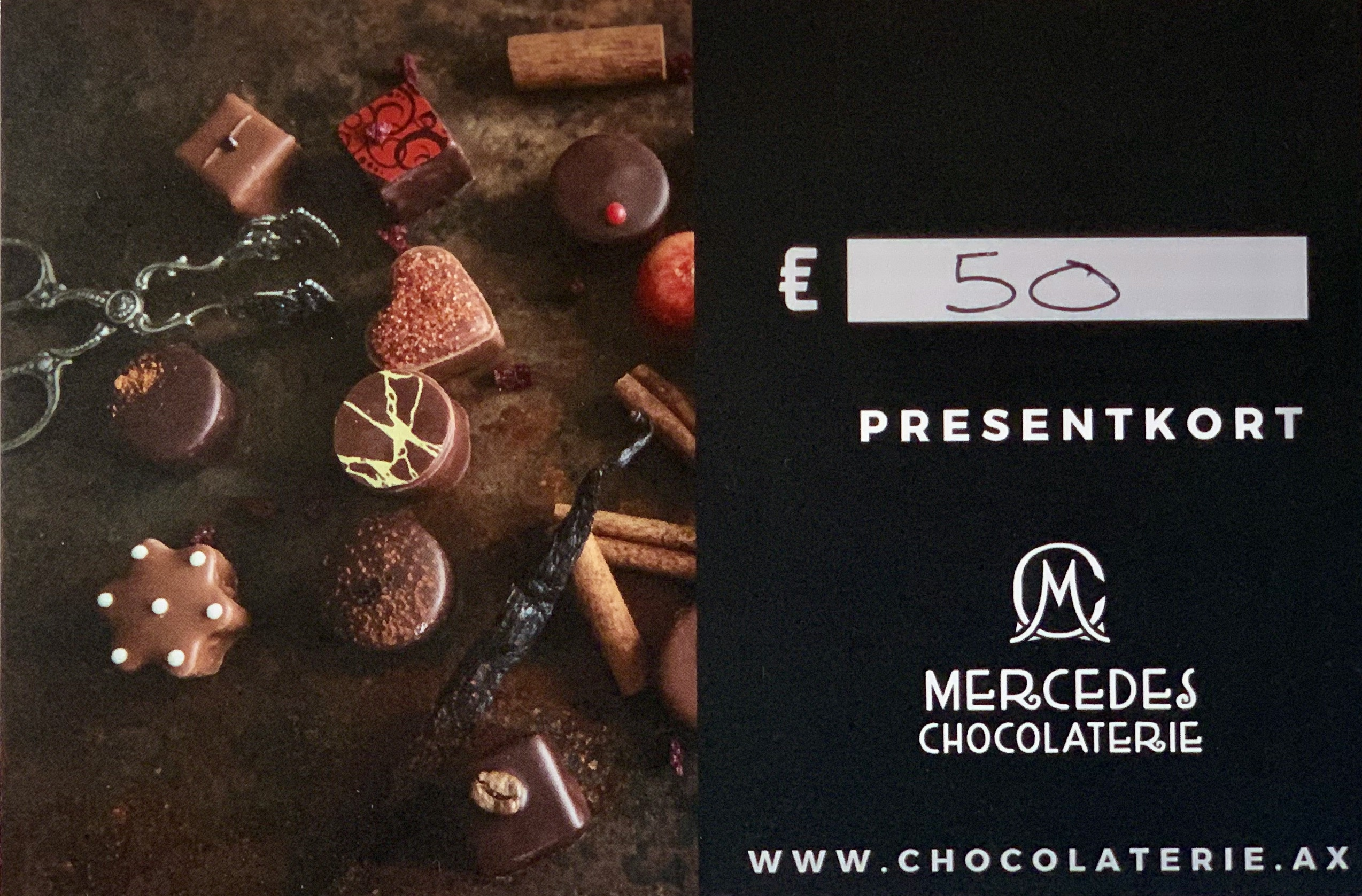 Mercedes presentkort, 50 euro