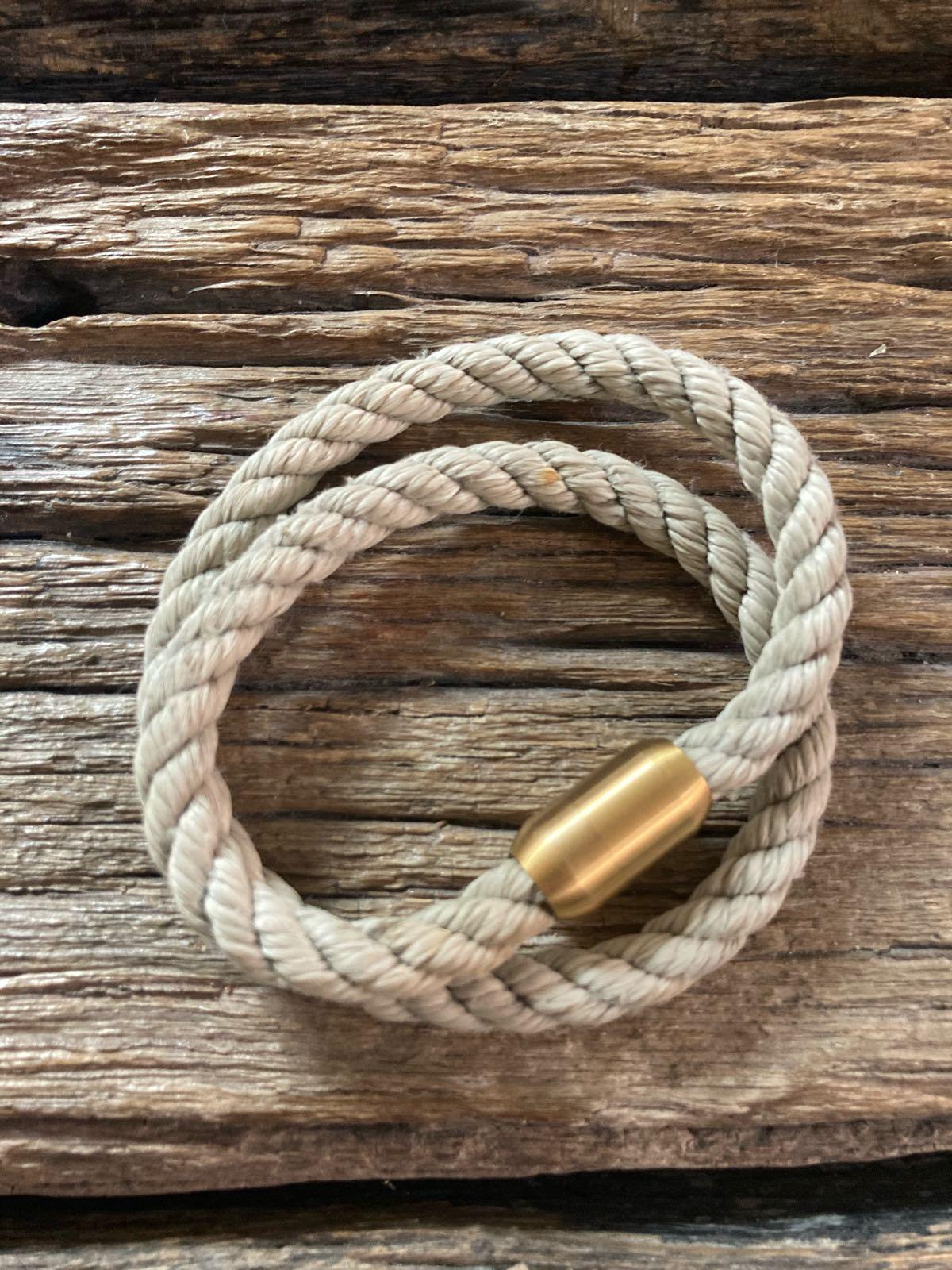 Fischereidesign - Armband 6 mm doppelt Gold