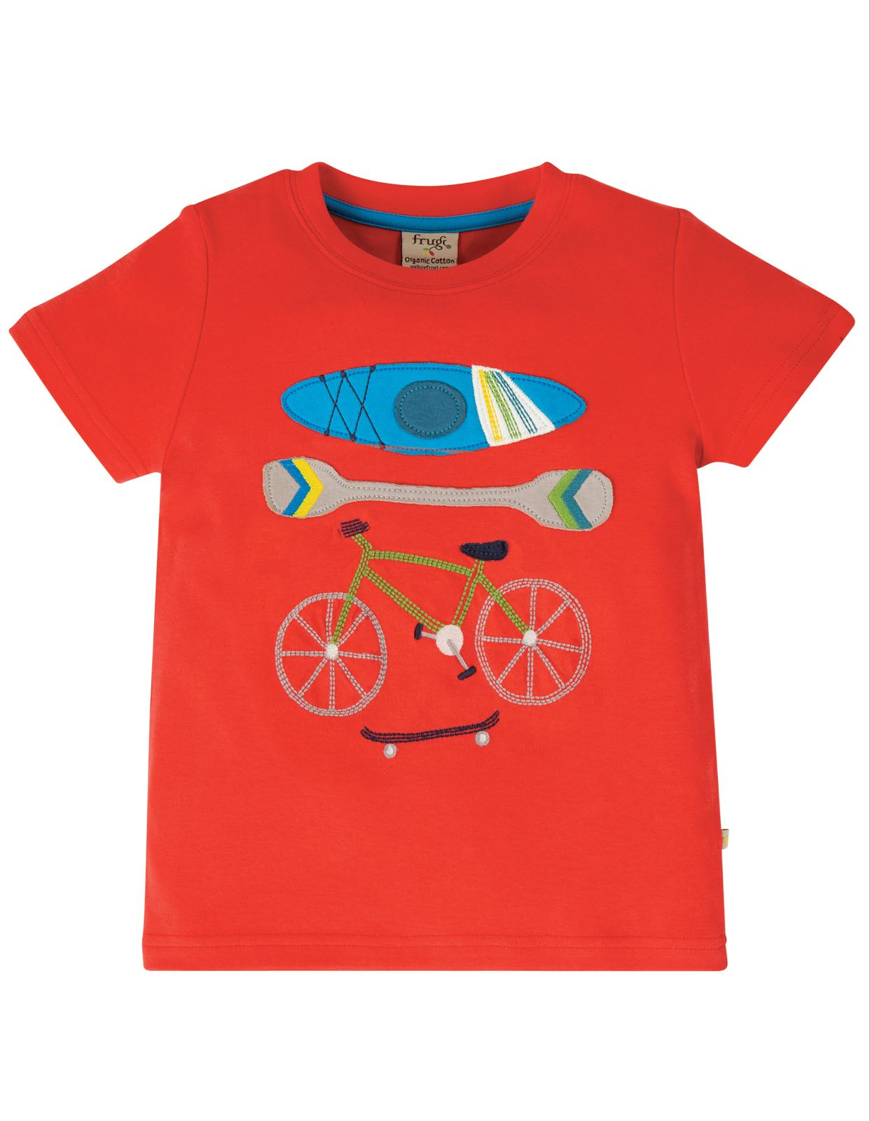 Frugi Carsen T-Shirt, Koi Red/Sports
