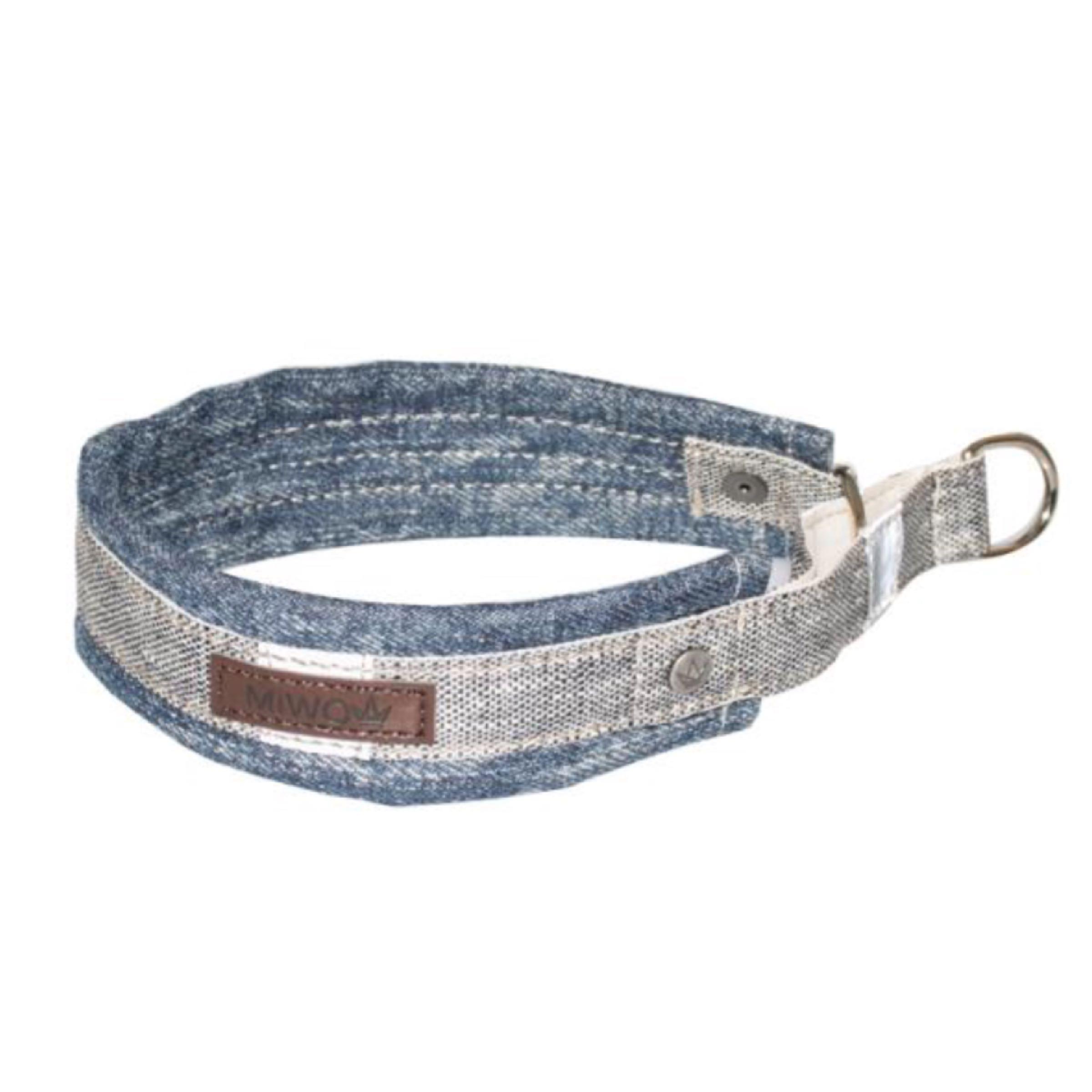 Miwo Halsband denim & grå