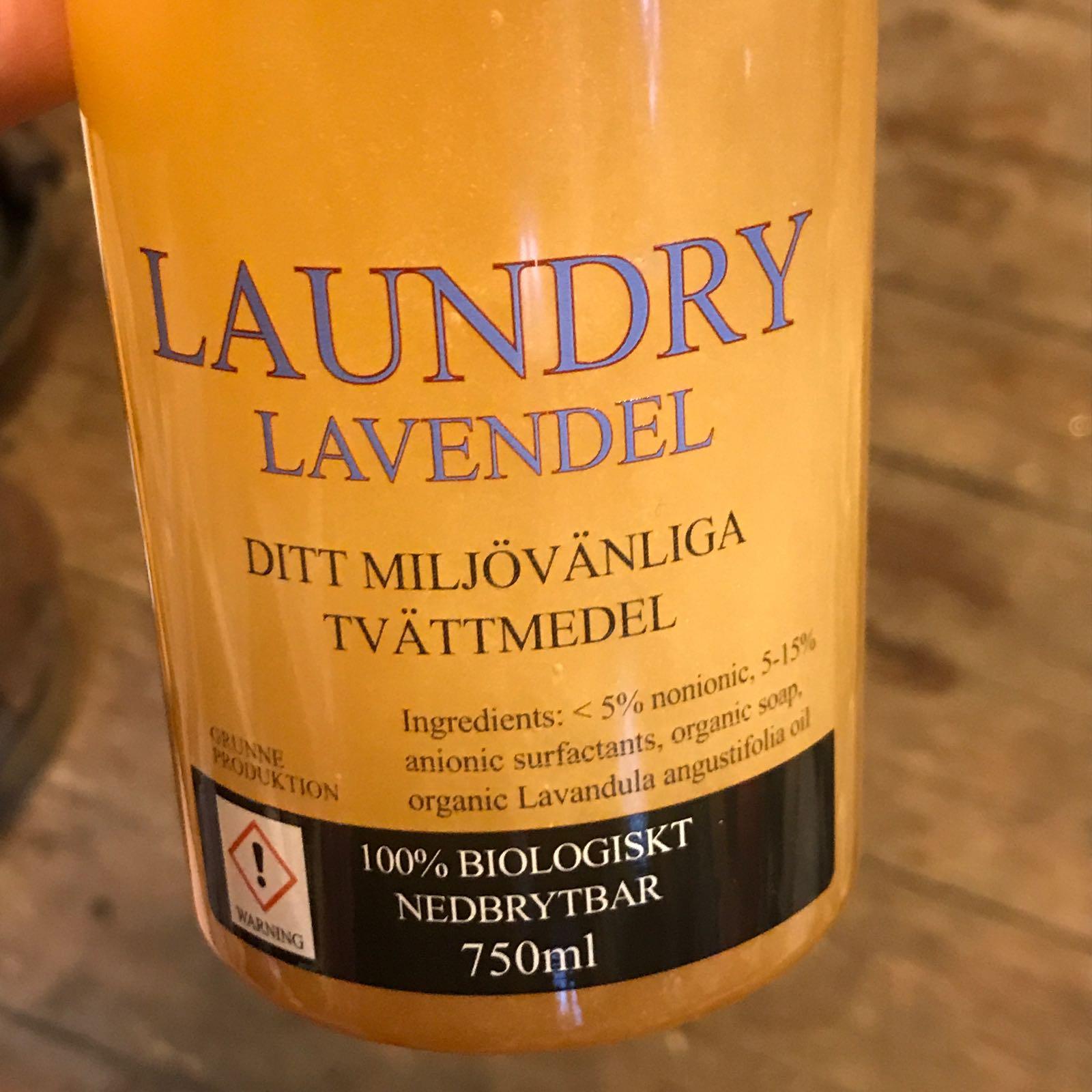 Laundry : økologisk vaskemiddel