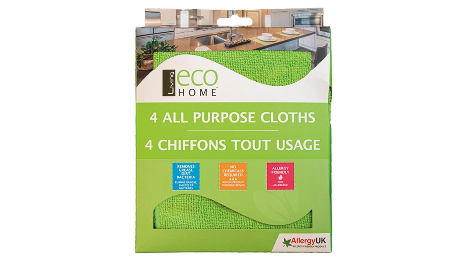Living Eco Home Mikrokuituliina 4kpl  30x35cm vihreä