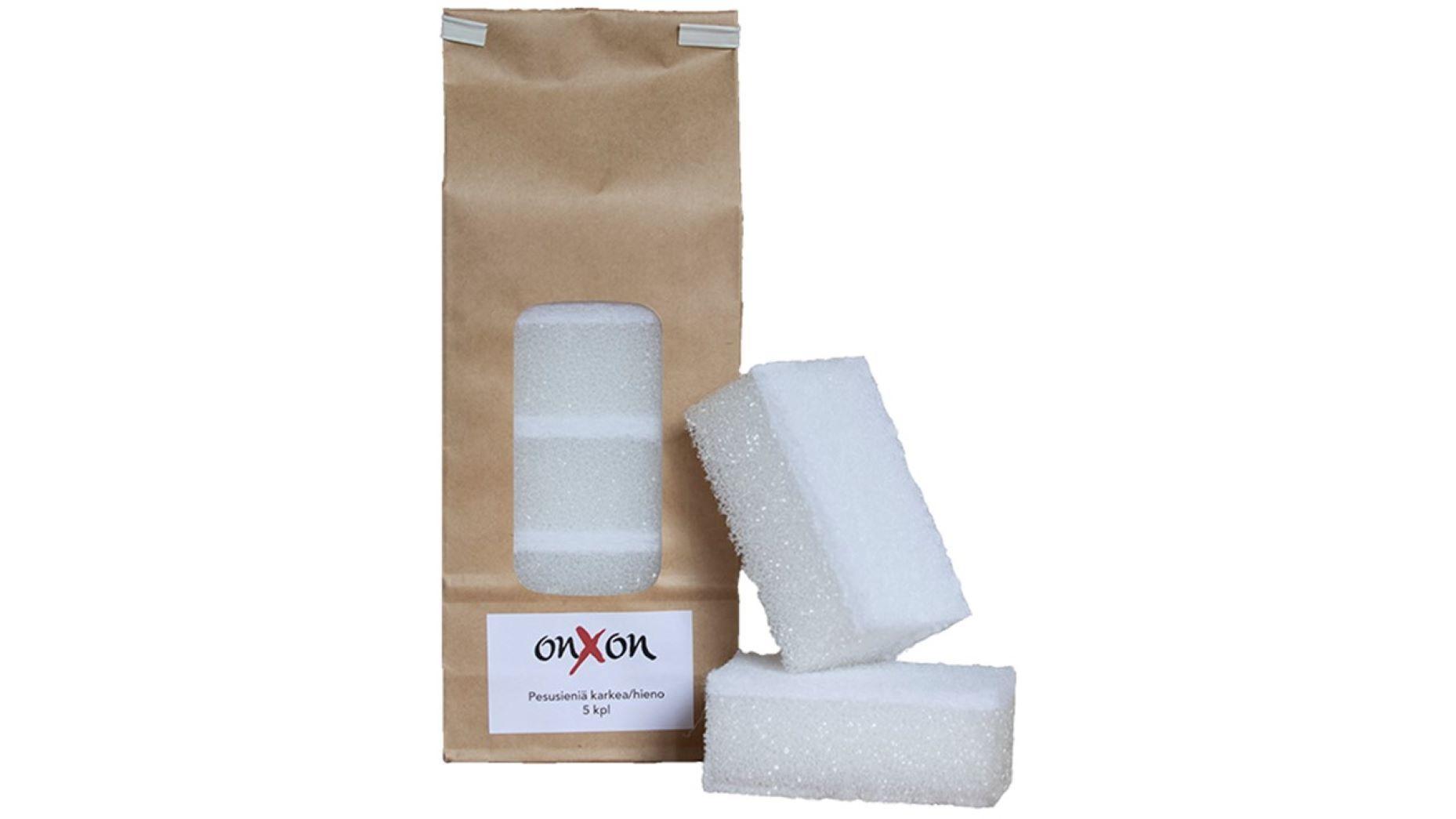 OnXOn Pesusieni karkea/hieno 4x6x10cm 5 kpl/pkt