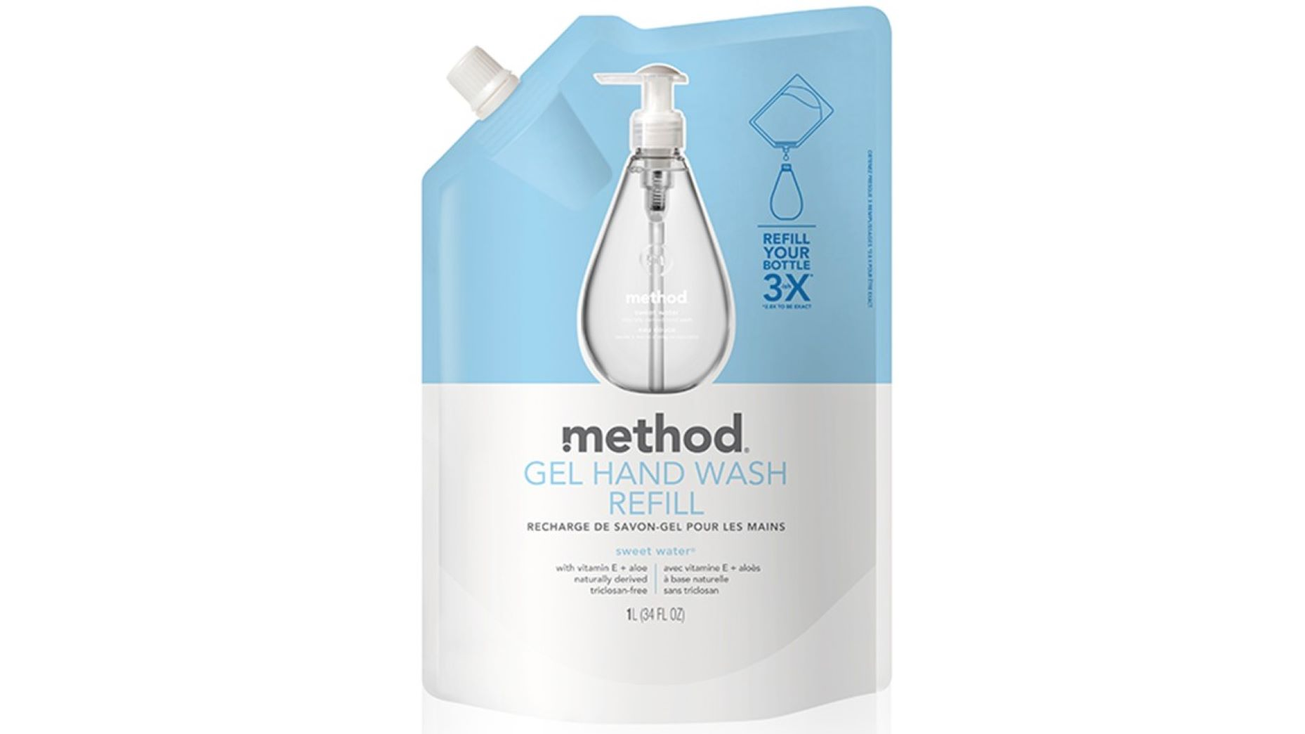 method Nestesaippua Sweet Water TÄYTTÖ 1000ml