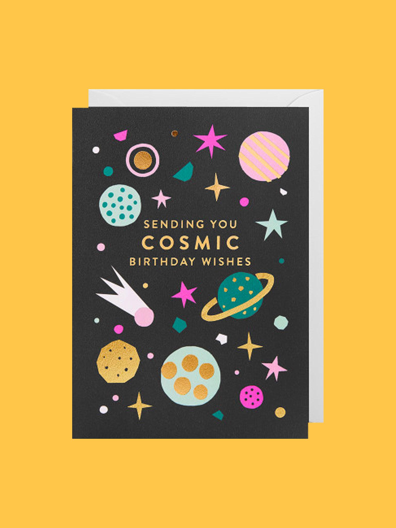 Klappkarte Cosmic Birthday Wishes